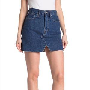 NWOT Madewell McCaren Cutout Denim Mini Skirt